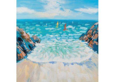 Ingresso sull'oceano - 80 x 80 cm AG090022